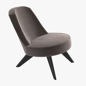 Marco Lounge Low Chair by Matteo Thun for driade 3D model