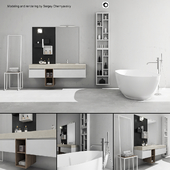 Bathroom furniture set Arcom e.Go