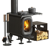 Wood burning stove AGNI