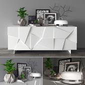 Декоративный набор с тумбой Concrete DALL'AGNESE