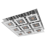 92877 LED chandelier CABO, 9X3W (GU10), 470H470, chrome / glass
