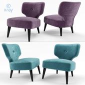 Hamilton Conte Paris. THAÏS Fabric easy chair.