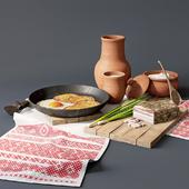 Traditional Belarusian dinner