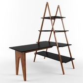 Triangular Shelf with Table.