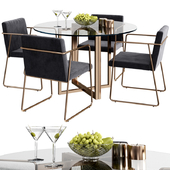 CB2 rouka chair & round dining table