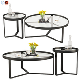 Aula Coffee Table & Side Table Black and Gray