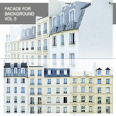 Facade for the background vol.3 Street of five houses