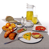Morning table setting