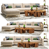 Benson Sectional & Meteor Coffee Table Set