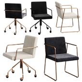 CB2 rouka chair set