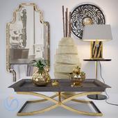 Decorative set with golden apples