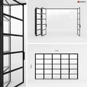 Metal door-accordion in the style of Loft 2