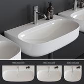 Washbasin Scarabeo Ceramiche Moon art.5507 art.5508 art.5509