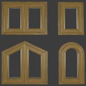 Wood-aluminum window profile 78 mm