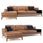Cana Leather Sectional Sofa