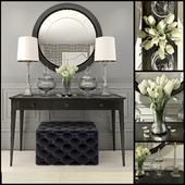 Black decor set with mirror