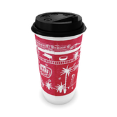 Paper cup for hot drinks