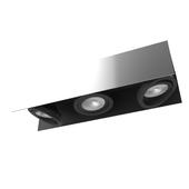 39317 LED ceiling light VIDAGO, 3x5,4W (LED), white / black