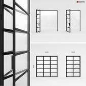 Metal doors-accordion in the style of Loft 3