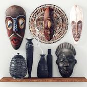 African masks - Decorative set_2