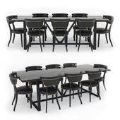Timothy Oulton - Hestia dining table & Angeles dining chairs