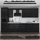 Kitchen Ikea Lerhuttan / Lerhyttan (black stain).
