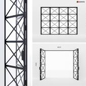 Metal doors-accordion in Loft style 4
