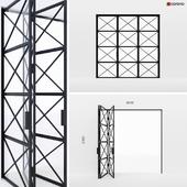 Metal doors-accordion in the style of Loft 5
