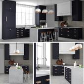 Customized navy kitchen