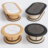 Mascheroni DAYTONA and COLOMBO leather coffee table