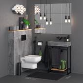 Concrete Toilet Set