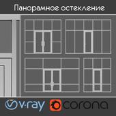 Glazing of the entrance area, set 3