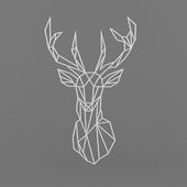 Metal art deer