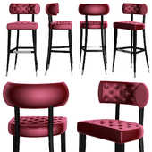 Zulu bar chair by Brabbu