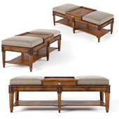 Sherrill Occasional Living Room Ottoman Cocktail Table