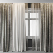 Curtains with window