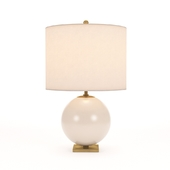 Kate Spade New York Casual Elsie Table Lamp In Blush Painted Glass