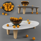 Table with oranges