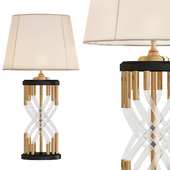 Pair of Vintage Braided Lucite and Brass Lamps