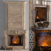 """Fireplace with accesories """"Pierfon"""". Factory """"Fireplaces of Petersburg"""""""