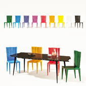 Edra Jenette Chair + Egeo Table