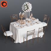 Свадебный стол на 6 персон 3 Corona