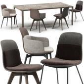 Molteni Barbican chairs set