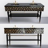Double drawer under the washbasin