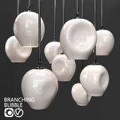 Branching bubble 1 lamp by Lindsey Adelman MILK/BLACK