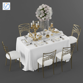 Свадебный стол на 6 персон 3 Vray