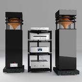 A set of audio equipment class Hi-End