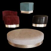 Baxter pouf set