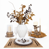 Table setting in ethnic style.