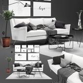 Scandinavian livig set 3. West Elm Carlo sofa